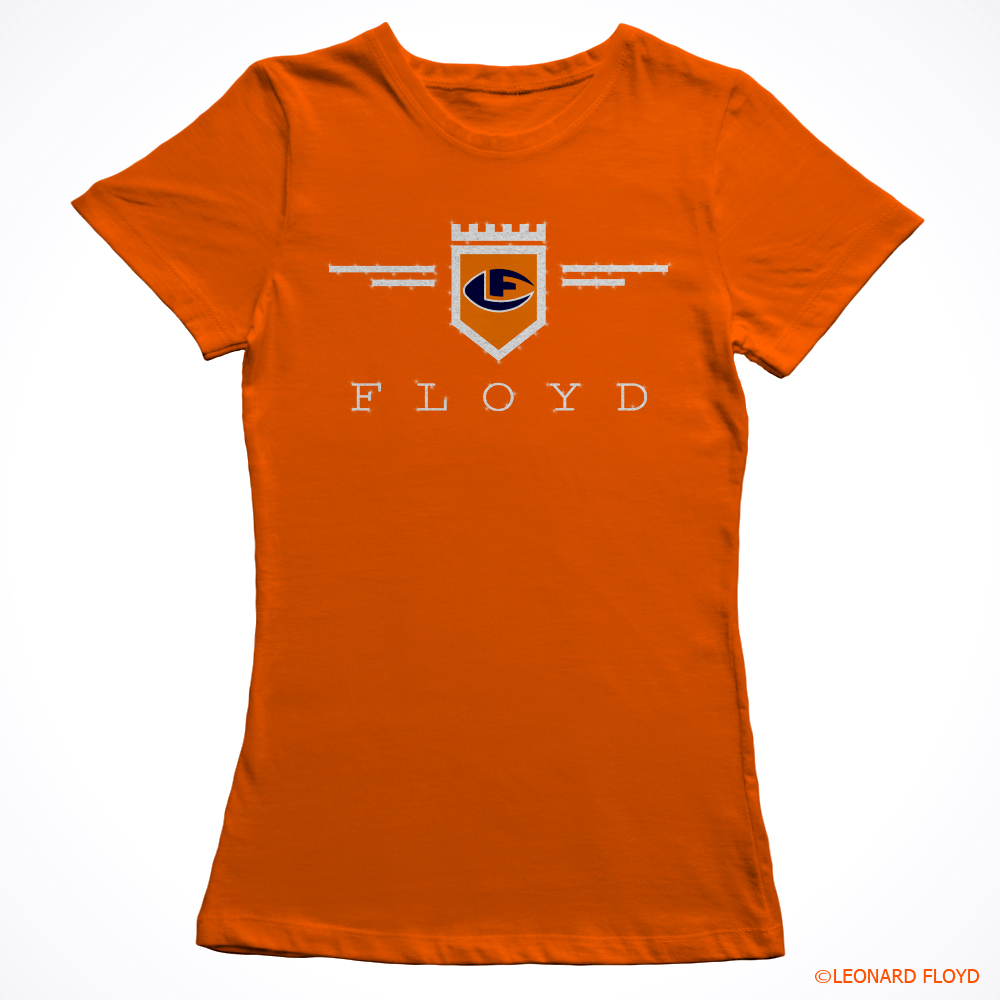 leonard-floyd-ladies-glitter-shirt-orange