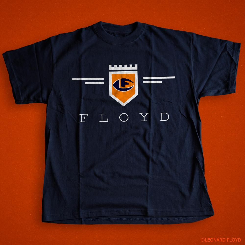leonard-floyd-tee-shirt-NAVY1-crest-logo