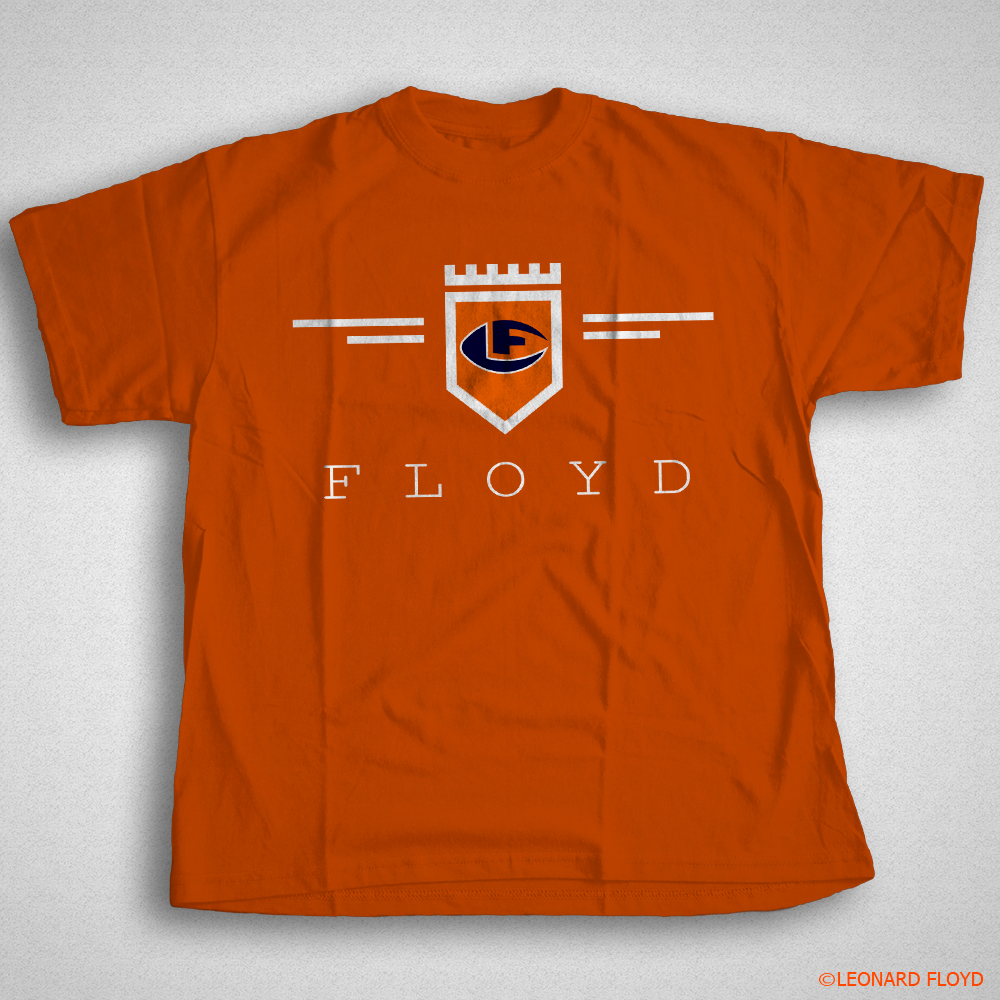 leonard-floyd-tee-shirt-orange-crest-logo