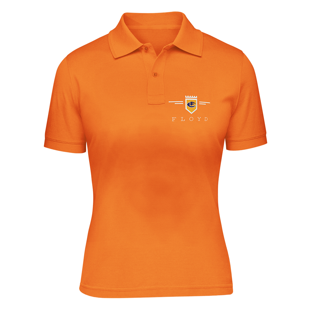 leonard-flpoyd-orange-womens-polo